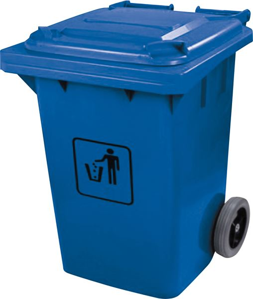 Garbage Can With Wheels 240l Blue Aaa Vacuum Superstore